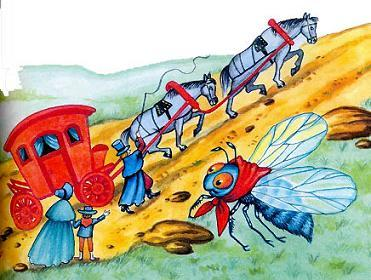 басня-крылова-муха-и-дорожные