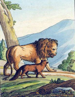 басня-крылова-лев-и-лисица